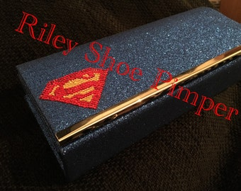 Sparkly Superhero Clutch (Super Hero of your choice)