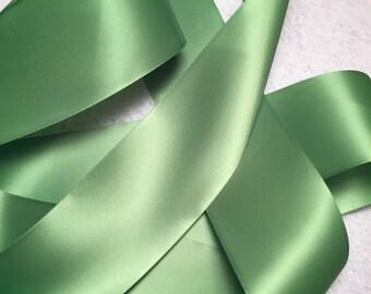Green Satin Ribbon/Celadon Satin Ribbon/Sage Green Ribbon/Celadon Bridal Belt/Green Ribbon/Mint Satin Ribbon/Celadon Green Ribbon