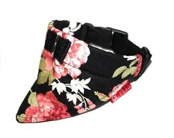 Floral Bandana Collar Custom Made - by QC Pets