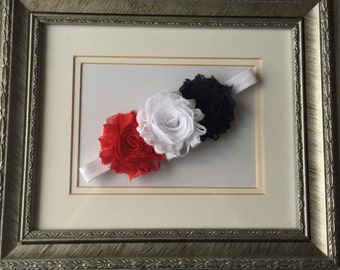 Red White Blue Headband, 4th of July Headband, Baby Girl Headband, Toddler Headband, Patriotic Headband, Elastic Headband