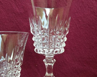 FRENCH LEAD CRYSTAL, Set of two glasses, W.M. Dalton,  Vintage, Collectible, Made in France
