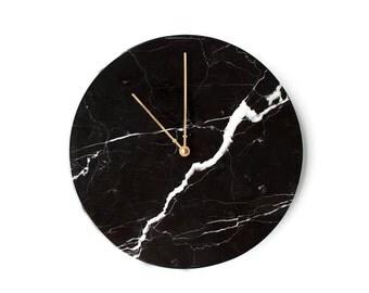 Marble Wall Clock | Nero Marquina