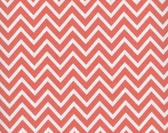 Round Tablecloth Cosmo Coral Chevron