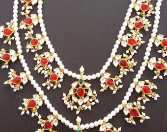 Kundan necklace, kundan jewelry, Indian wedding jewelry, statement Indian necklace,