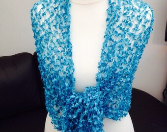 Handmade by Mrs Smith Gorgeous Turquoise Wrap