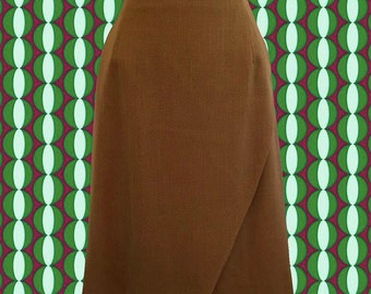 Vintage 80's Joseph Aboud Wrap-Style Skirt • Classic Simple Style • Designer