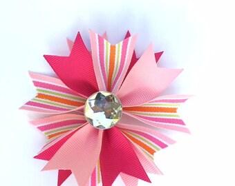 Pink Hair bows - Pink -  pink hairbows - pinks