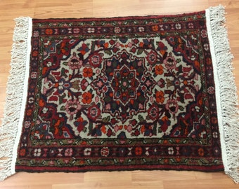 "2'1"" x 2'7"" Antique Persian Lilihan Oriental Rug - 1940s - Hand Made - 100% Wool"