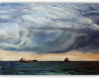 Cloud and water landscape - maritime and ships