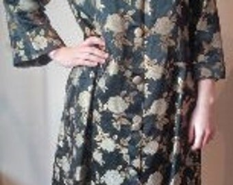 1960's Brocade Day coat / Dressing Gown - Harvey Nichols