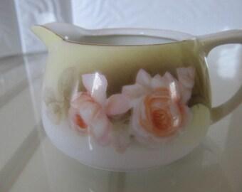 R S Silesia Peach Rose Creamer