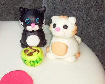 Cat Fondant Figure Cake Toppers