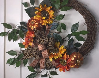 Fall Fig Grapevine Wreath