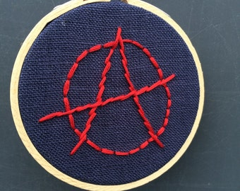 "3"" Hoop art ""Anarchy"""