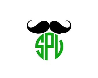 Mustache Monogram Decal, Mustache Decal, mustache monogram, monogrammed mustache Car Decal, Phone Decal, Yeti Decal, Popular Decal,