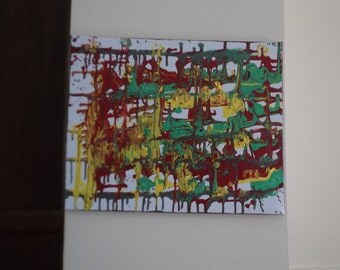 Colorful abstract painting 40x50cm