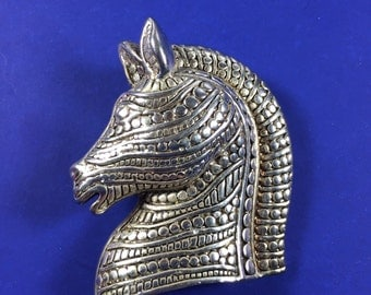 Horse Head Brooch