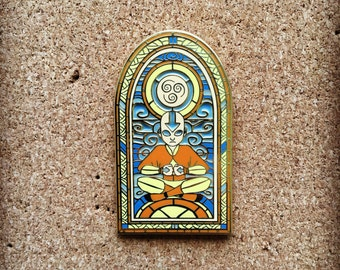 "2"" Stained glass Aang"