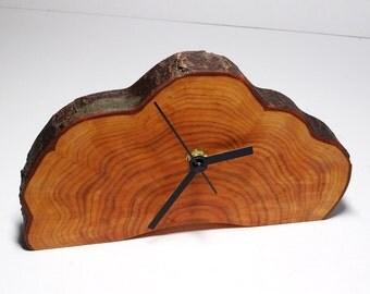 Clock, wood slice clock,wooden clock, rustic clock, desk clock (036)