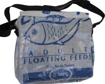 Large recycled food Sack Messenger bag
