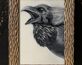 Raven - Art Print Nature Fantasy Folklore - 5x7