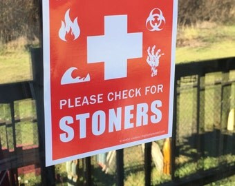 Emergency Stoner Sticker