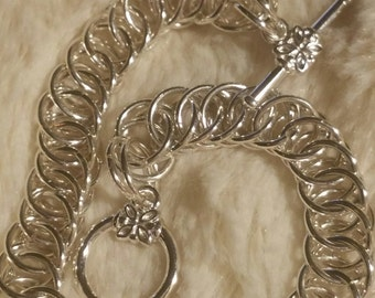 Steling Silver Chainmaille bracelet