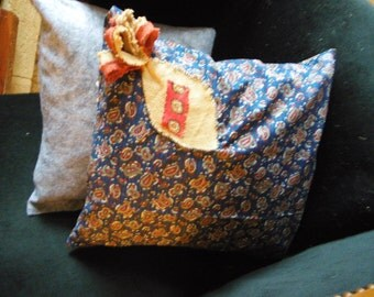 Decorative cushion, fabric vintage style Provence, handmade