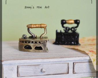 "1:12 old style Dollhouse Miniature ironing/ miniature sewing/ 1"" dollhouse miniatures D64 D63"
