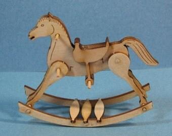 1:12 Miniature Rocking Horse Kit/ Dollhouse Miniature toy /dollhouse kit DI TY101