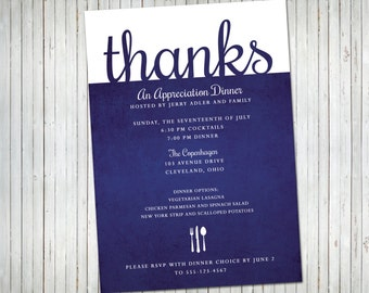 Appreciation Dinner Party Invitation