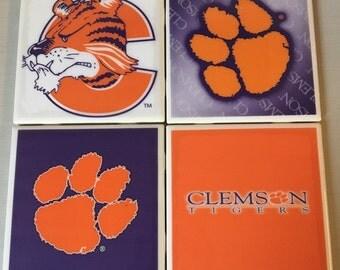 Clemson Tigers coaster set