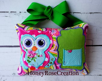Tooth Fairy Pillow.Owl tooth fairy pillow.