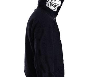 SKELETON SKULL & SPINE, cool graphic Mens Hoody, Hooded top HM1490