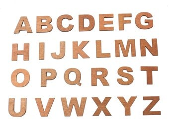 Wood Letters (Individual Letters)