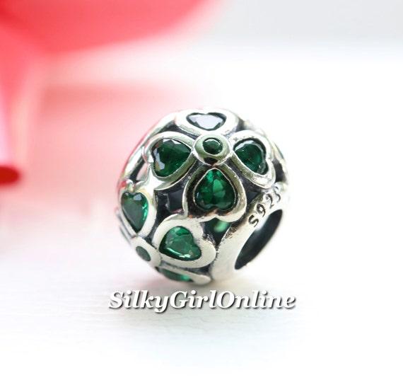 pandora charm green lucky clover 791496czn by silkygirlonline