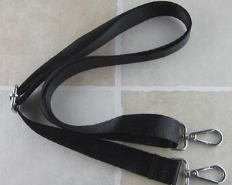 Black Nylon Strap for Bag 1 inch Wide Cross Body Strap
