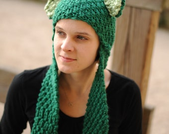 Green Bear Scoodie (Hat/Scarf/Mits or Pockets)