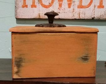 Decorative box with lid,Trinket box, Gift box, Treasure box, Distressed box