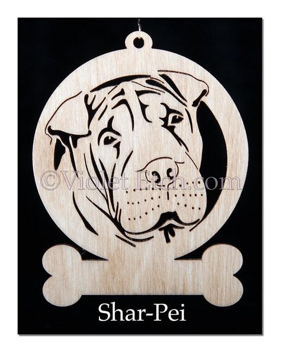 Shar-Pei-Shar-Pei Ornament-Shar-Pei Gift-Free Personalization