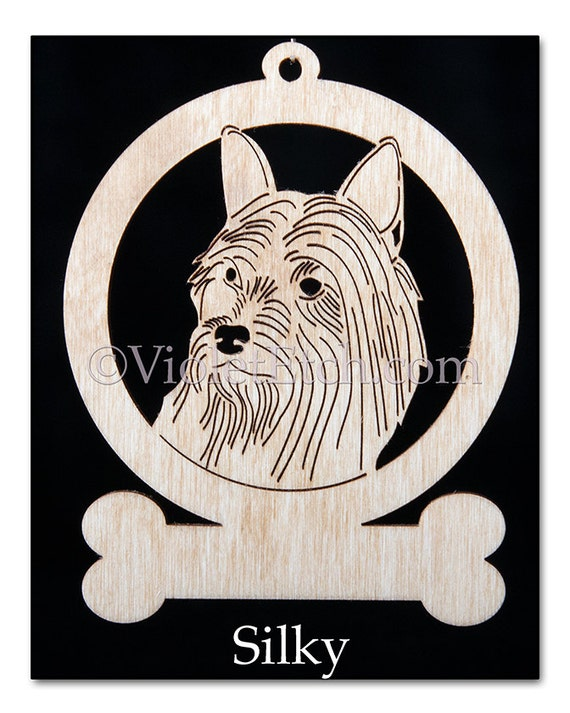 Silky Terrier- Silky Terrier Ornament-Silky Gift-Free Petsonalization
