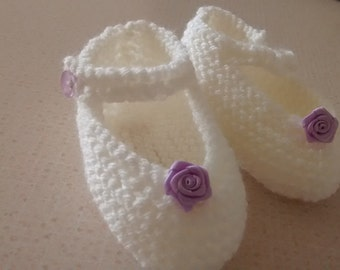 6 - 12 months baby Mary Jane booties