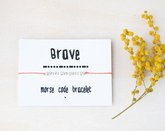 Brave morse code bracelet, morse code, morse code bracelet, morse code custom, brave bracelet