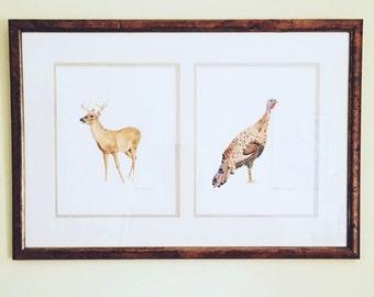 Watercolor turkey or deer