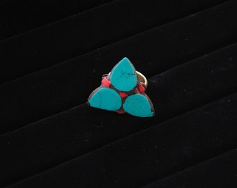 Handmade Tibetan 3 Leaf Statement Ring