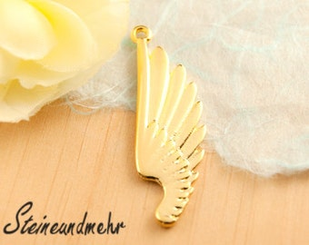 1 x wings wings gold plated pendant type. 1426