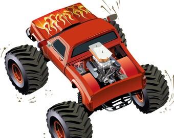 Monster Trucks Coloring Book 1
