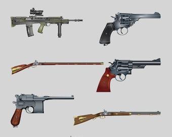 Armi Libro da Colorare per Adulti 2