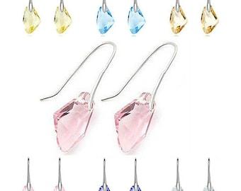 Austrian Crystal Droplet Hook Earrings