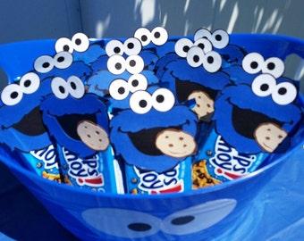 Sesame Street Cookie Monster Die Cuts 2.5 inches